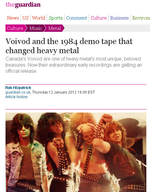 Voivod in the Guardian!